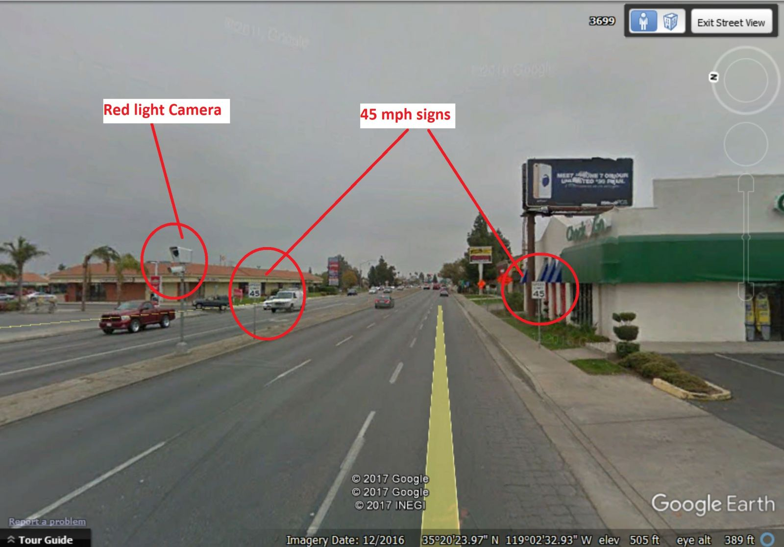 The Speed Limit On Ming Avenue Is 40 Mph See Phot Below And The Location Of  One Of The Cameras:
