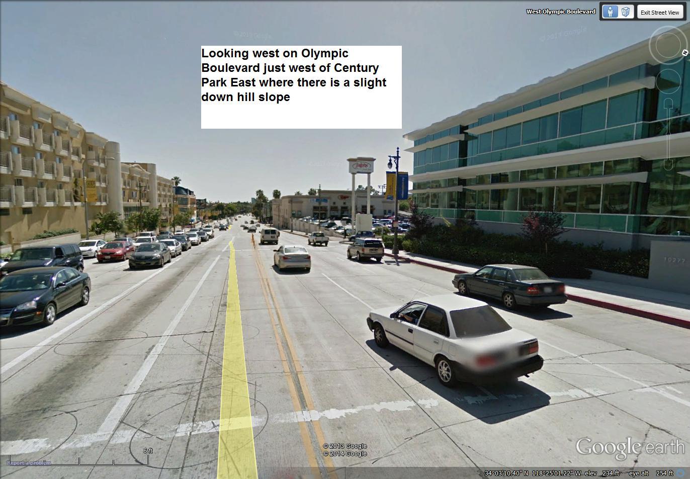 speeding ticket in los angeles on olympic boulevard