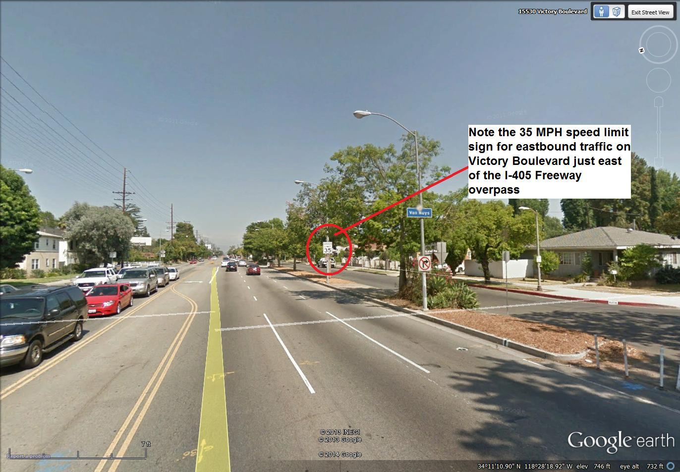 speeding ticket in los angeles on victory boulevard