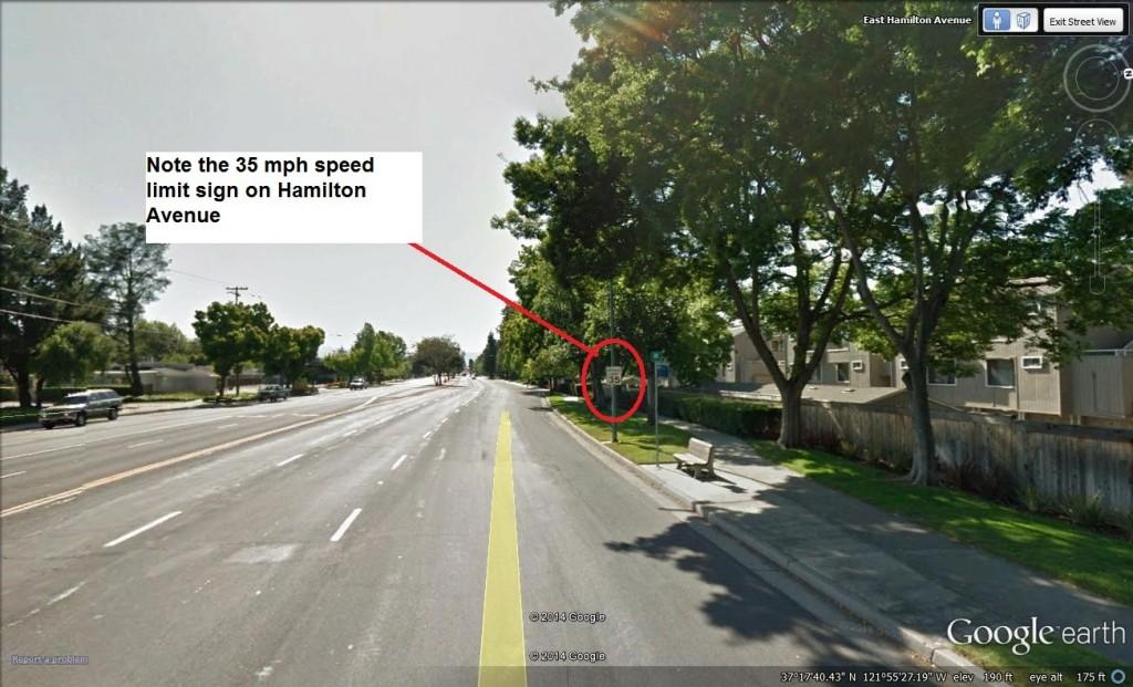 Speeding Ticket in San Jose on Hamilton Avenue
