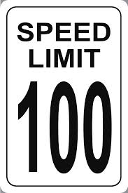 speed in excess of 100 mph